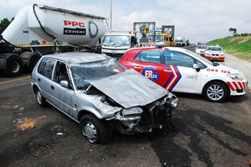 Two Vehicles Roll on N1 Allandale