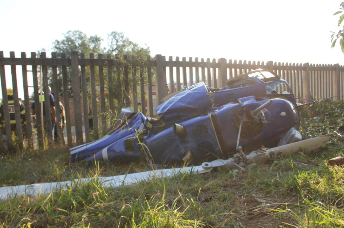 Helicopter Crash Leaves Two Men Critically Injured Photos