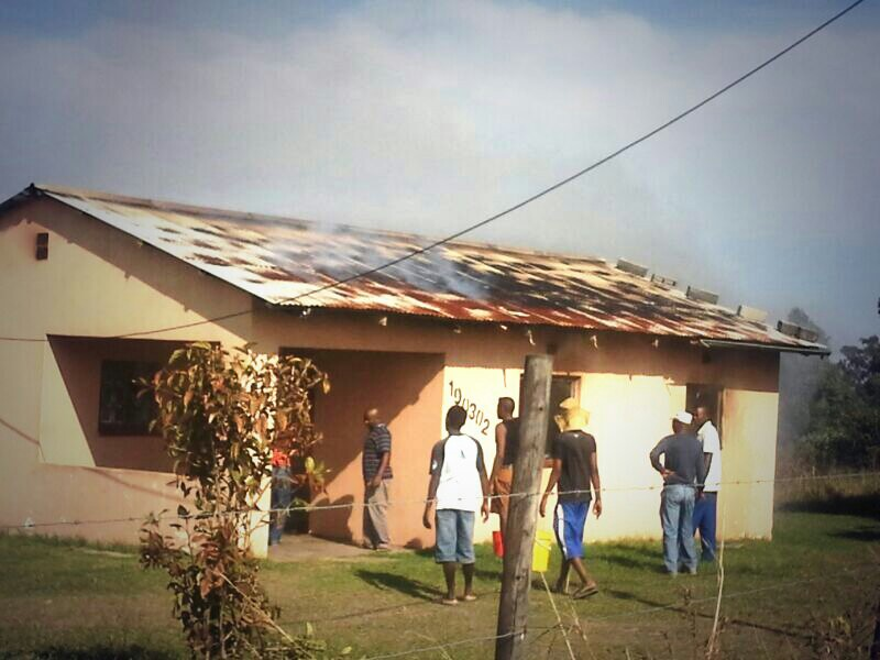 Several patients affected by smoke from a house fire at Sydenham, Durban