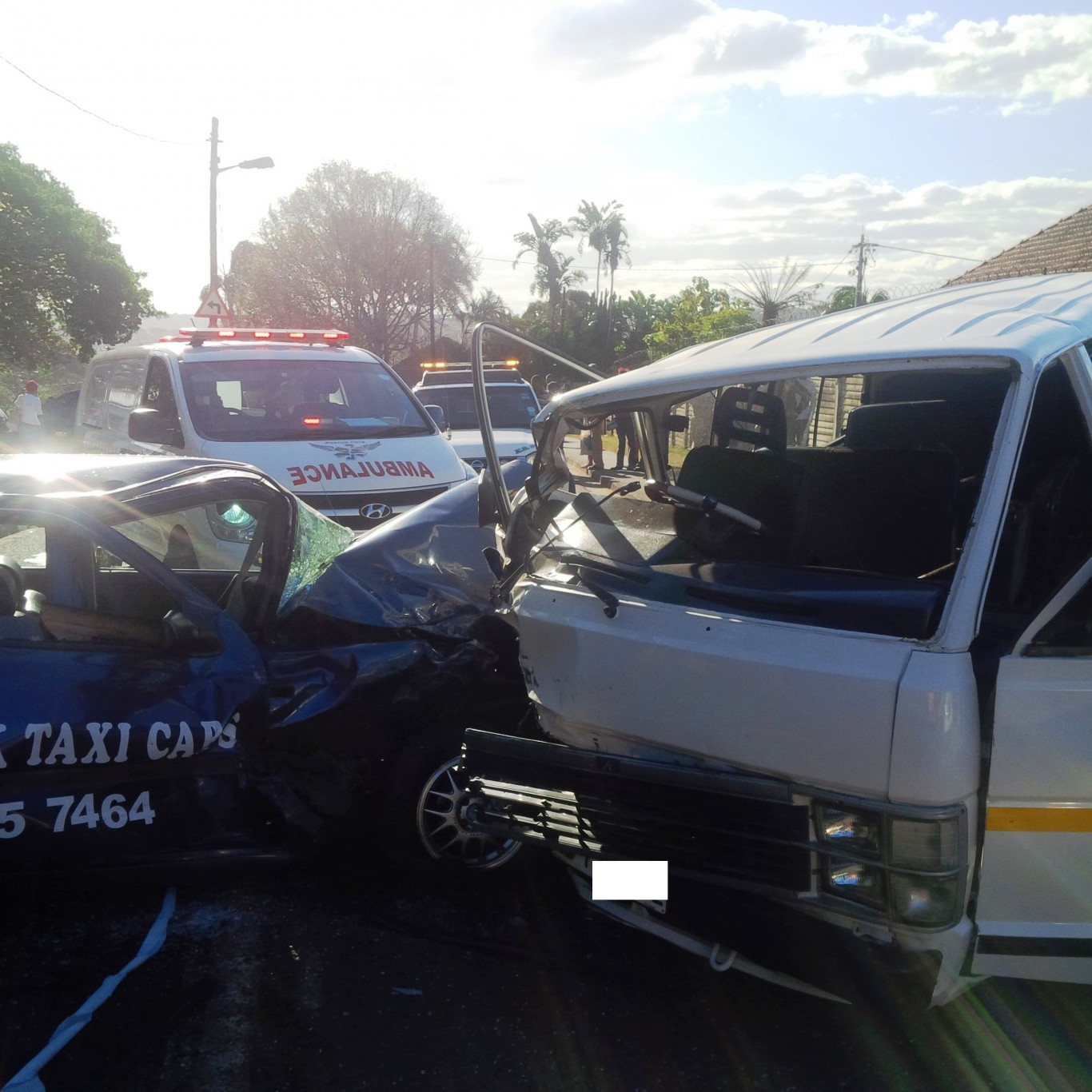 Ten injured after two vehicles collided on Cato Manor Road in Durban