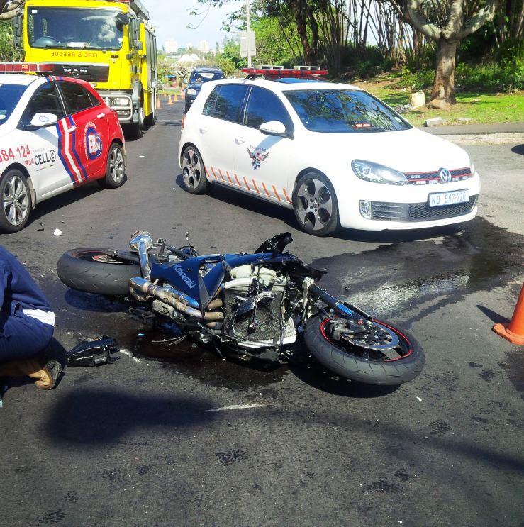Biker critically injured in Durban smash