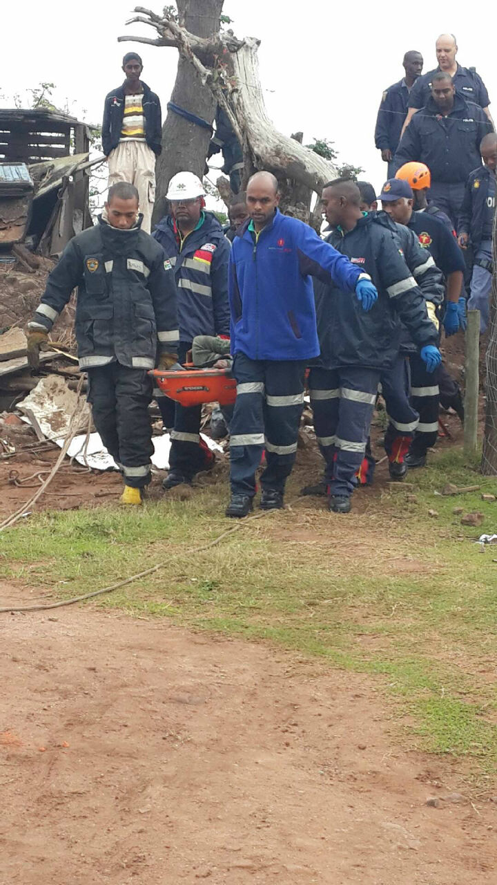 Woman rescued down steep embankment in Welbedacht in the Durban Area