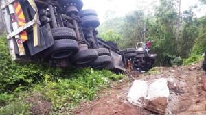 Truck overturns in Seaview, Durban