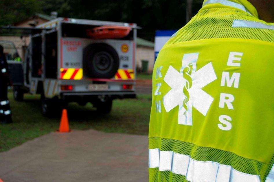 Paramedics treat patients in Durban CBD