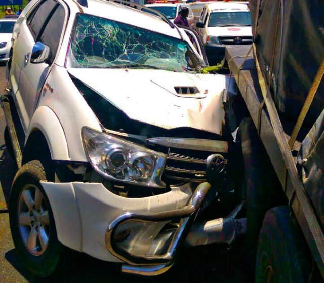 Durban N2 south collision with trucks leaves two injured