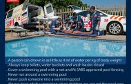 3 Year old resuscitated after drowning in a swimming pool.