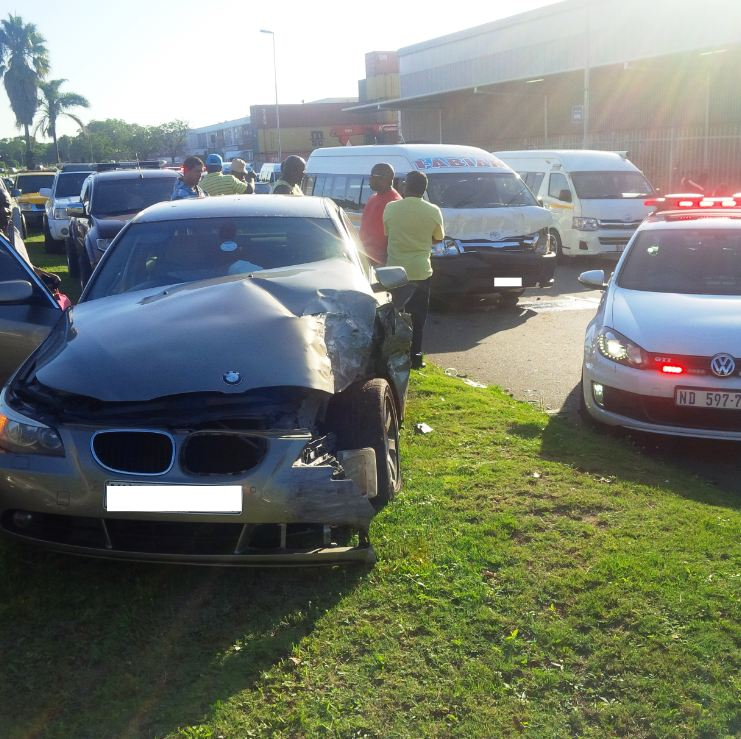 13 injured in Taxi collision in Durban