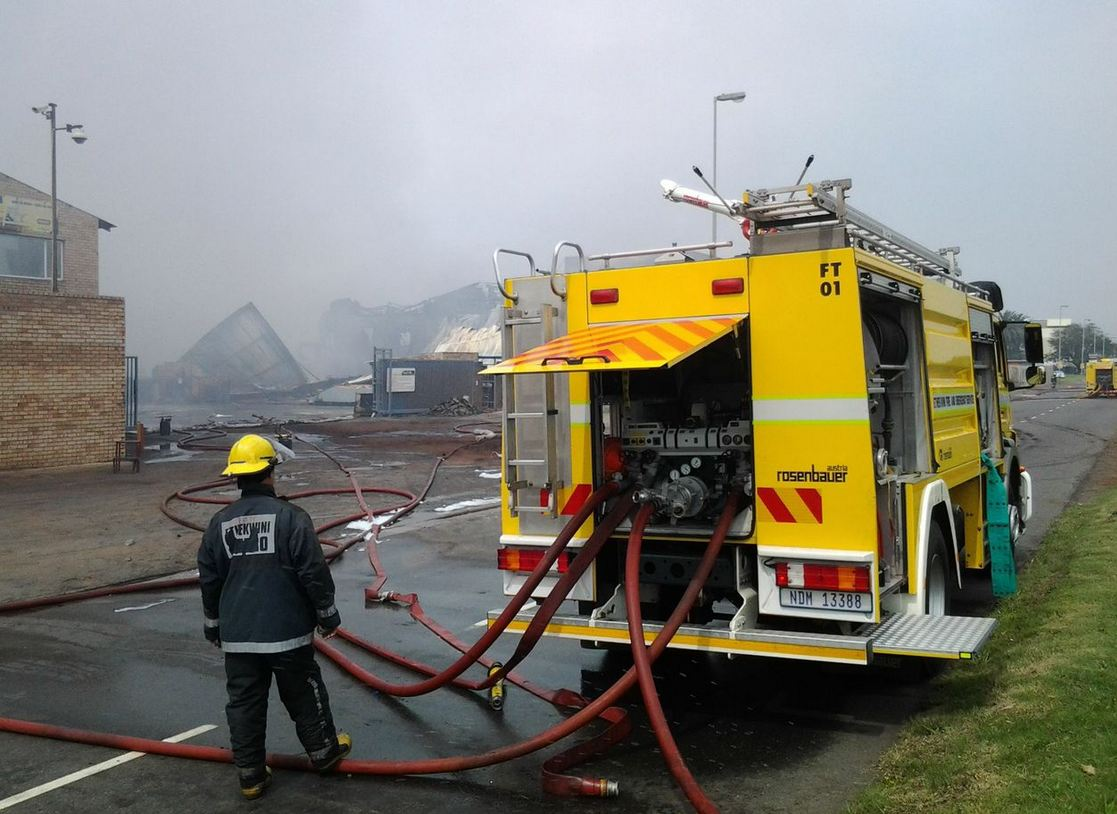 Massive fire at cooking oil refinery south of Durban