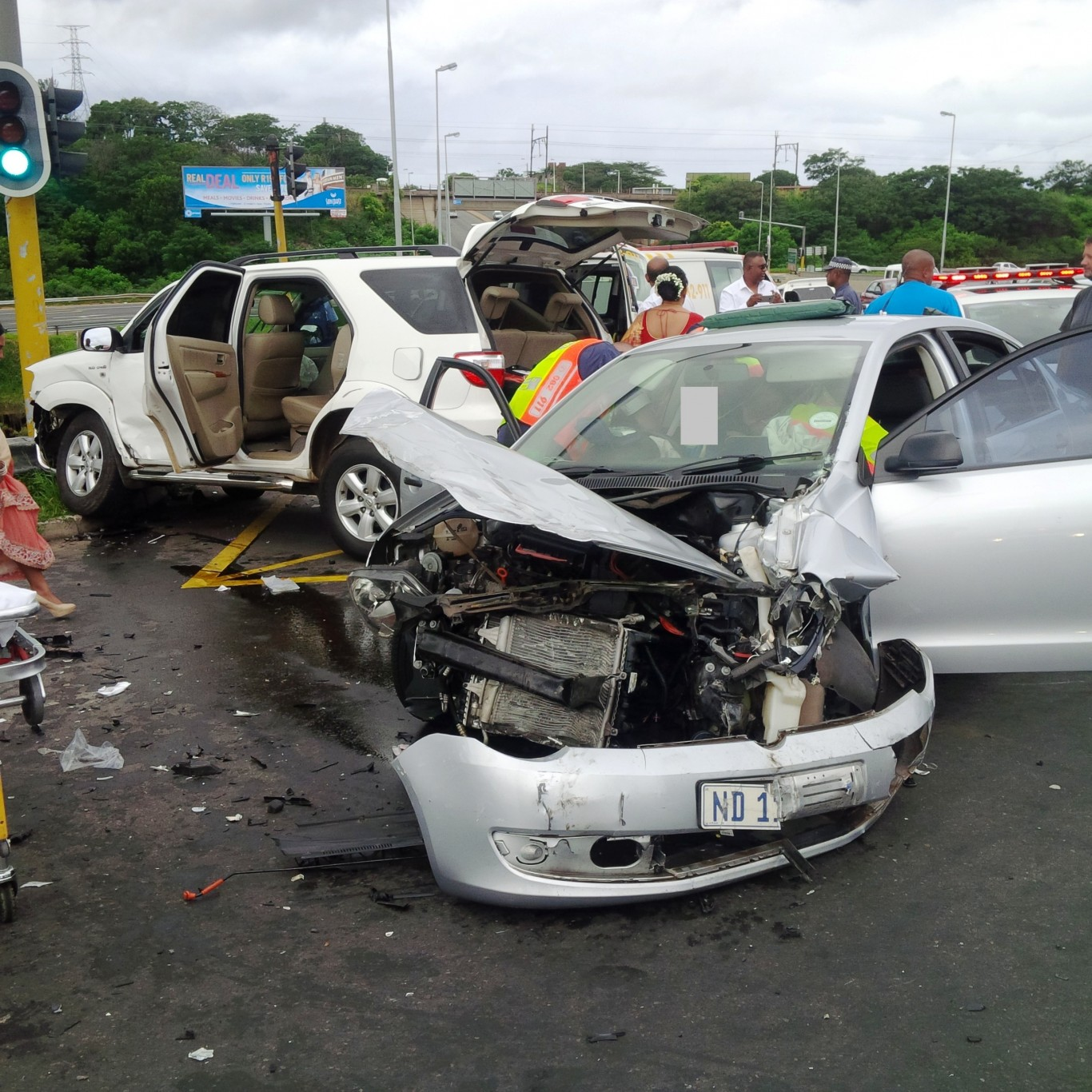 Collision leaves 9 injured on the bridge on the M1 over the N2