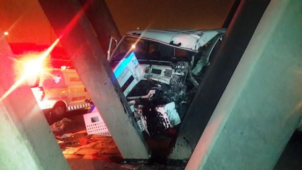 Truck collides with bridge Durban