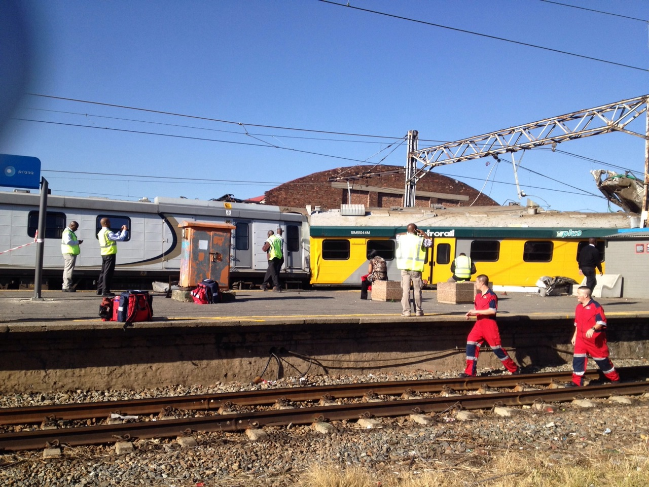 Horror train collision leaves one dead and about 80 injured at Denver station, JHB