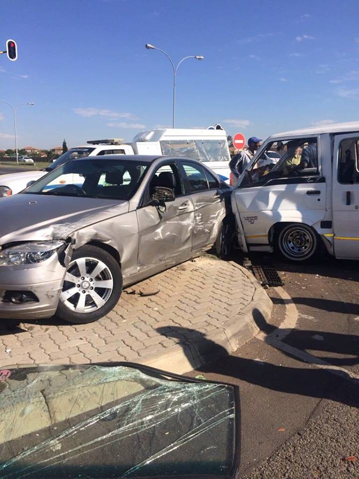 Collision at intersection after taxi allegedly skipped a red traffic light