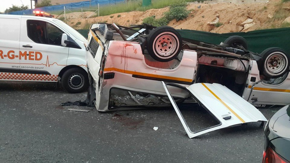 Several injured in taxi collision on M1 South at Grayston offramp