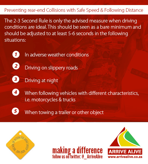 Avoid Tailgating - Keep a Safe Following Distance!