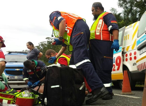 Cyclist injured after colliding with car on Whitefield drive in Kingsburgh Kwa-Zulu Natal