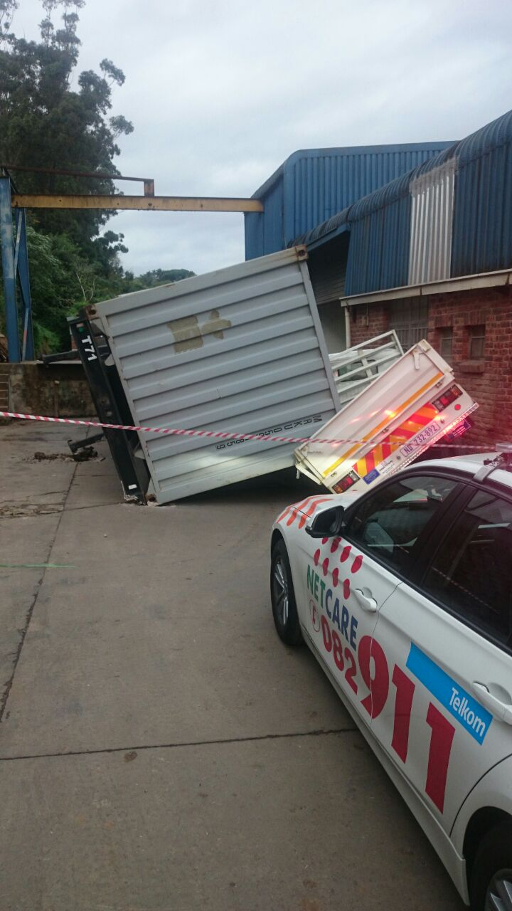 Man injured in container related accident in Durban