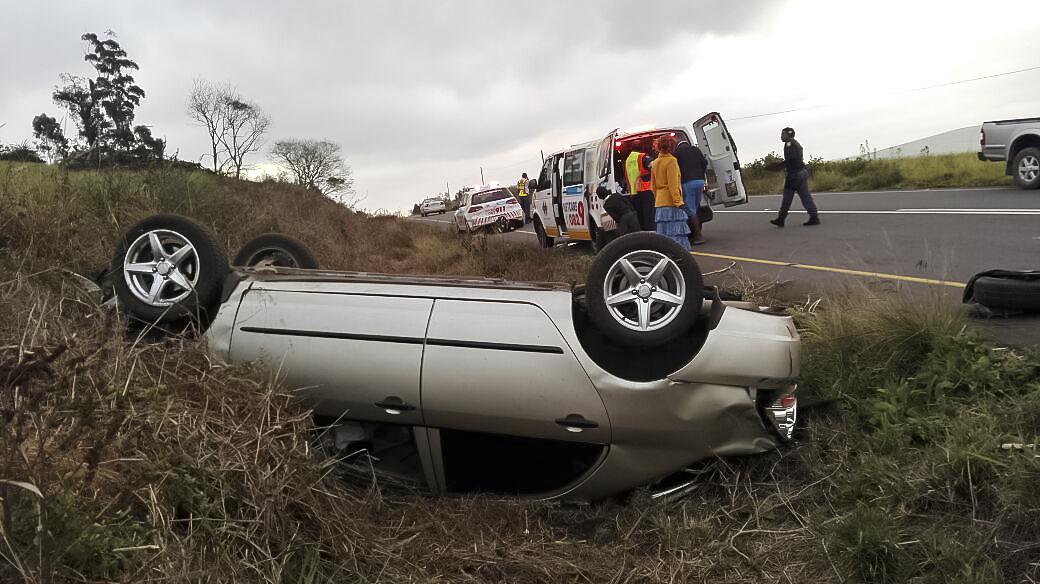 Rollover crash on the R603 near Eston