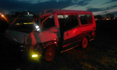 A serious collision on Saturday night Modderfontein