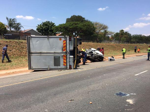 CENTURION three vehicle collision leaves one dead, another injured