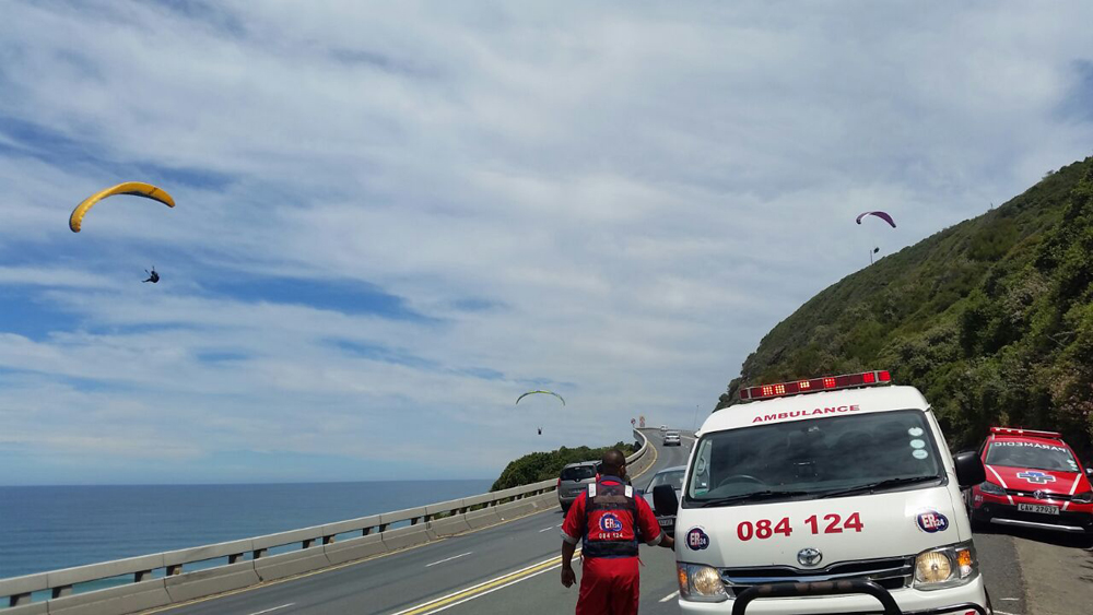 Paraglider crash lands, escapes injury