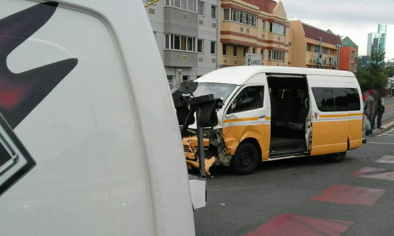 Taxi T-bones SUV on Stanley and Menton Roads, Auckland Park.