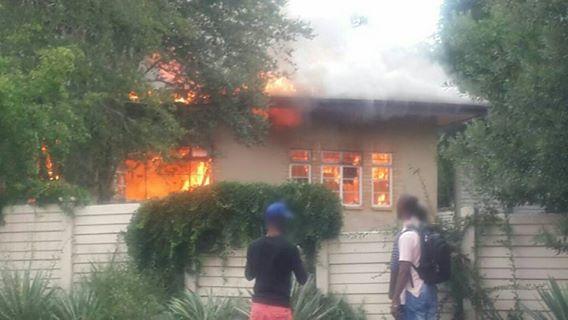House fire in Brooklyn , Pretoria
