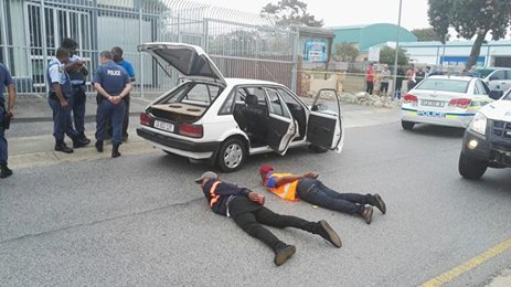 Two suspects were arrested for possession of a suspected stolen motor vehicle, Port Elizabeth