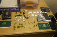 A well known drug dealer was arrested with large quantities of various types of drugs, Midrand