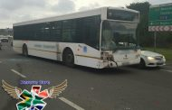 Six people injured after a bus collided with two vehicles in Cato Manor yesterday evening