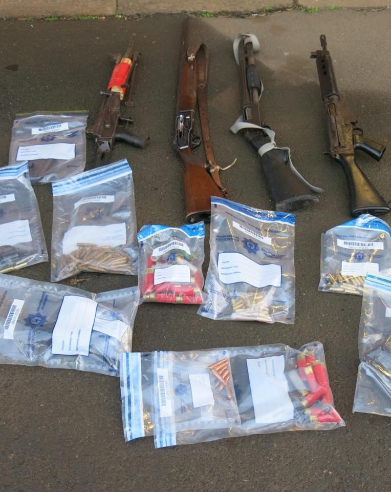 KwaZulu-Natal: Six firearms recovered at Umbumbulu