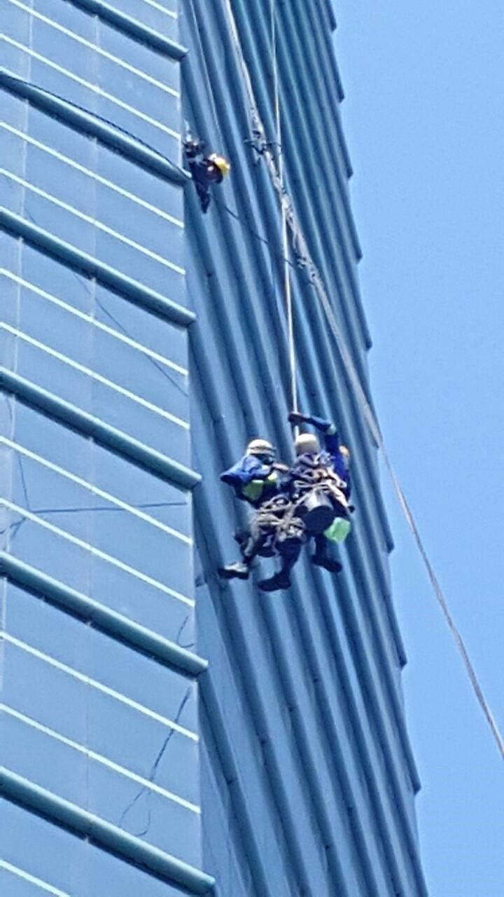 Man Rescued from building in Durban Central