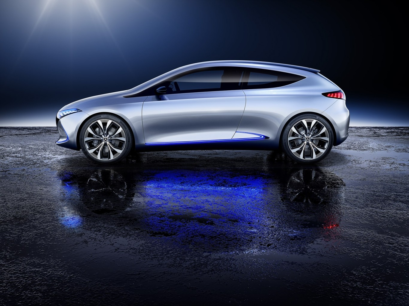The Concept EQA is Mercedes-Benz's first  all-electric EQ concept vehicle in the compact segment.