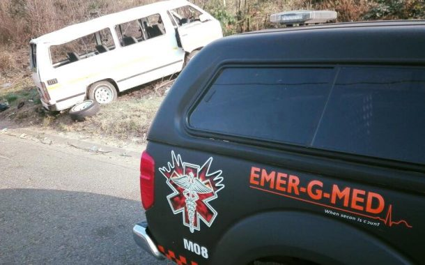 Taxi rollover on the M2 East