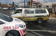 Nineteen people were left injured this afternoon when a taxi rolled in Ferndale
