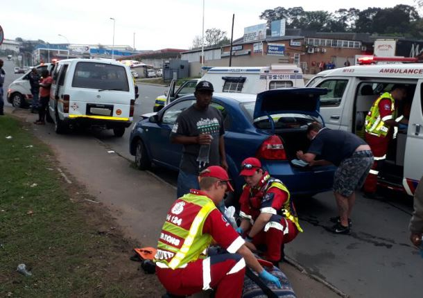 Car rear-ends taxi in Westmead leaving five injured
