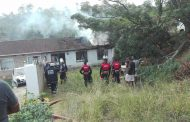 House Destroyed In Fire in Verulam, KwaZulu-Natal
