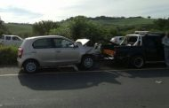Five cars were involved in a collision on the R102 near Durban