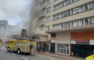 A Fire has broken out in a hotel in West Street between Point Road and Gillespie Street in Durban
