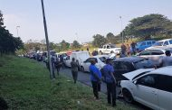 Five people injured in a pile-up on the M1 Higginson Highway near Chatsglen offramp in Chatsworth