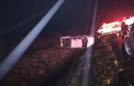 Five injured in South Coast rollover crash