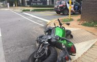 Biker injured in crash in Bryanston