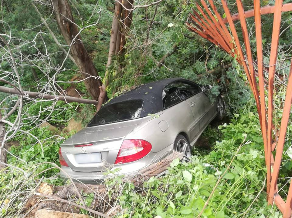 One person sustained minor injuries when a vehicle crashed through a fence in Johannesburg