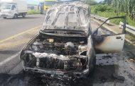 Bakkie Destroyed In Fire on the R102, Verulam