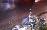 Fortunate escape from serious injury for biker in a crash in Nelspruit