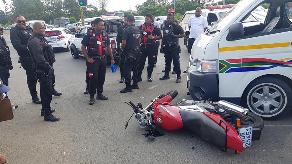 Biker Injured In Crash at Ottawa Intersection, KZN