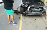 One person was injured during a four-car crash in Uvongo on the KwaZulu-Natal South Coast