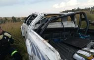 Critically injured driver airlifted to hospital