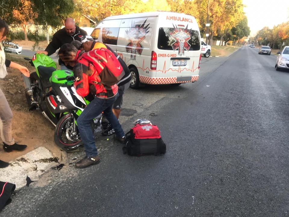 One injured in a bike collision in Randburg