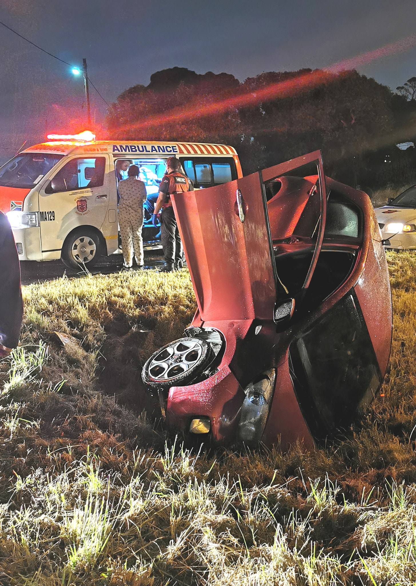 One injured in vehicle rollover on Inanda road in Verulam