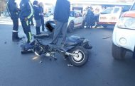 One injured in a motorcycle and car crash in Rosebank
